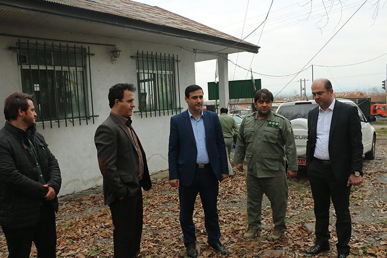 بازدید مدیرکل حفاظت محیط زیست گیلان از پاسگاه محیط بانی سراوان
