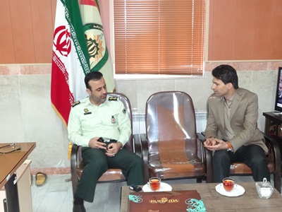دیدار رییس اداره حفاظت محیط زیست شهرستان رضوانشهر با فرمانده انتظامی این شهرستان