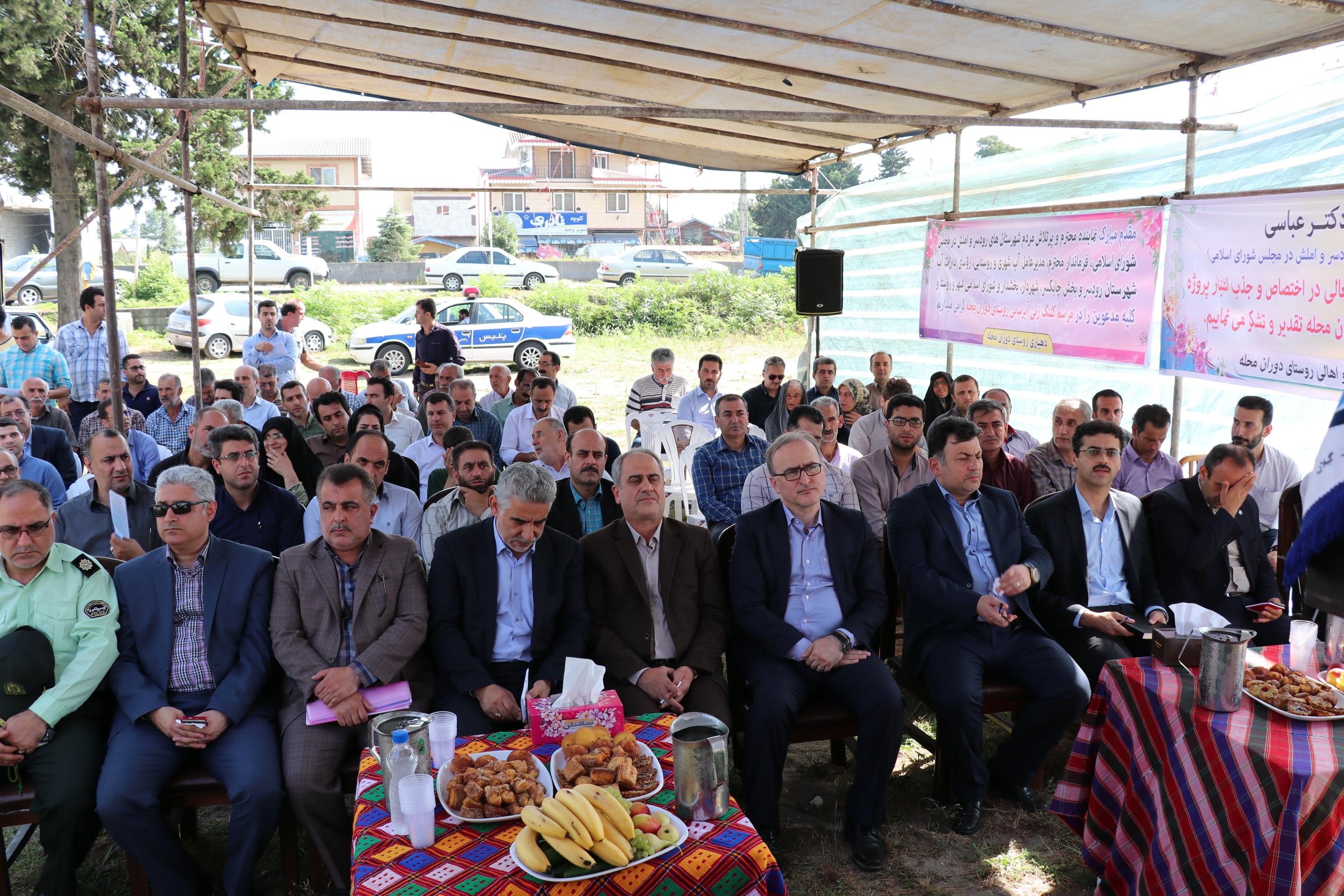 آئین کلنگ زنی پروژه تکمیل خطوط آبرسانی شهرچابکسر و توسعه شبکه آب دوران محله