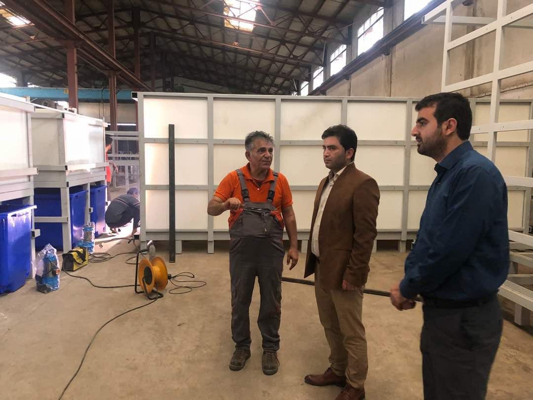 علیرضا حاجی پور در حاشیه بازدید از روند شرکت لوله های بتنی شمال :  پیشرفت فیزیکی سیستم تصفیه شیرابه سراوان به روش نانو