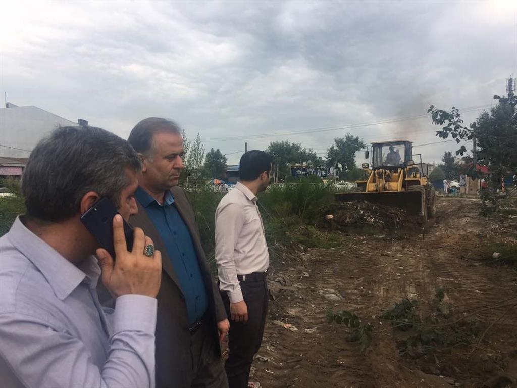 آغاز عملیات بازگشایی تسطیح ورگلاژ ضلع جنوبی کانال G۵ منطقه یک شهرداری رشت