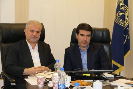 جلسه هم اندیشی دکتر احمد رمضانپورعضو شورای اسلامی شهر رشت با مهندس عطائی شهردار منطقه ۱ رشت