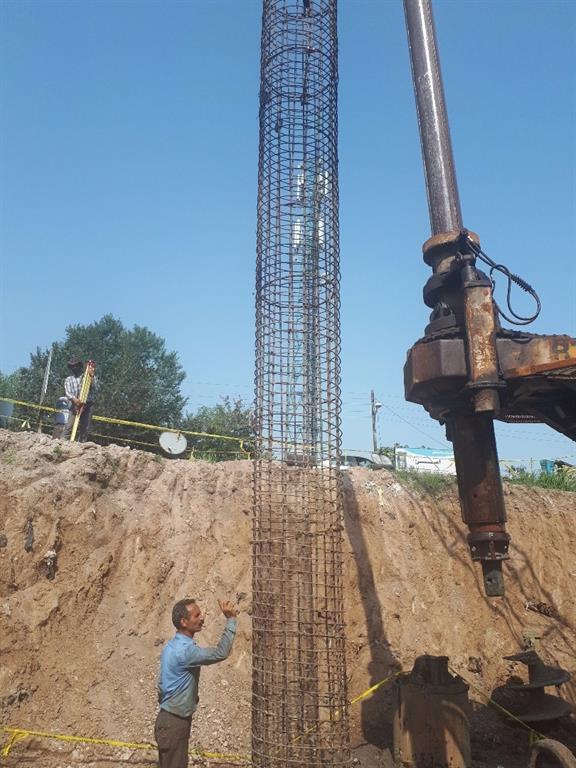 پروژه احداث دیواره حفاظتی در نقاط بحرانی و حادثه خیز حد فاصل میدان نبوت تا تخته پل. فاز اول به طول ۱۱۷ متر