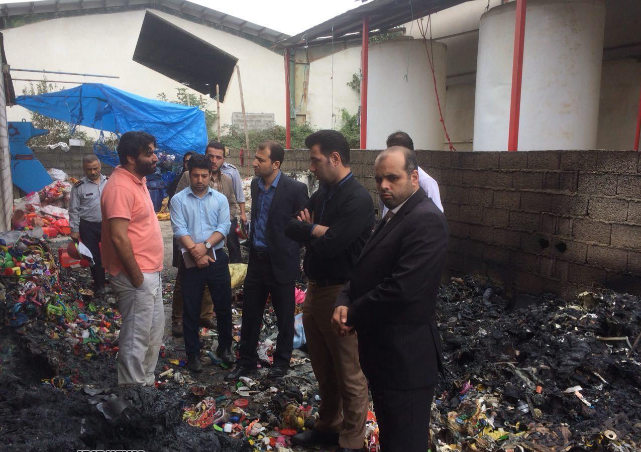 مدیرعامل شرکت شهرک های صنعتی استان گیلان :  یک واحد صنعتی تولید لوازم کشاورزی پلاستیکی در شفت آتش گرفت