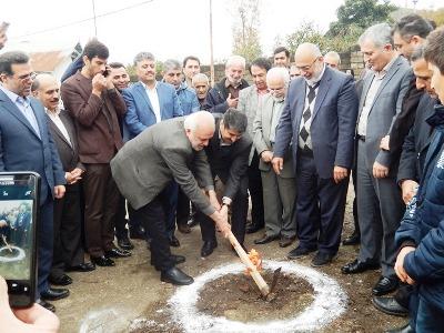 آغاز عملیات اجرایی ساخت دومین مدرسه بانک ملّی ایران در استان گیلان