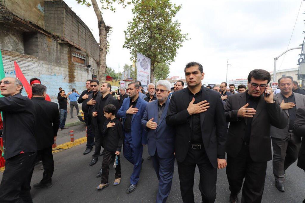 گزارش تصویری هیات عزاداری شورا و شهرداری رشت در آستانه تاسوعای حسینی
