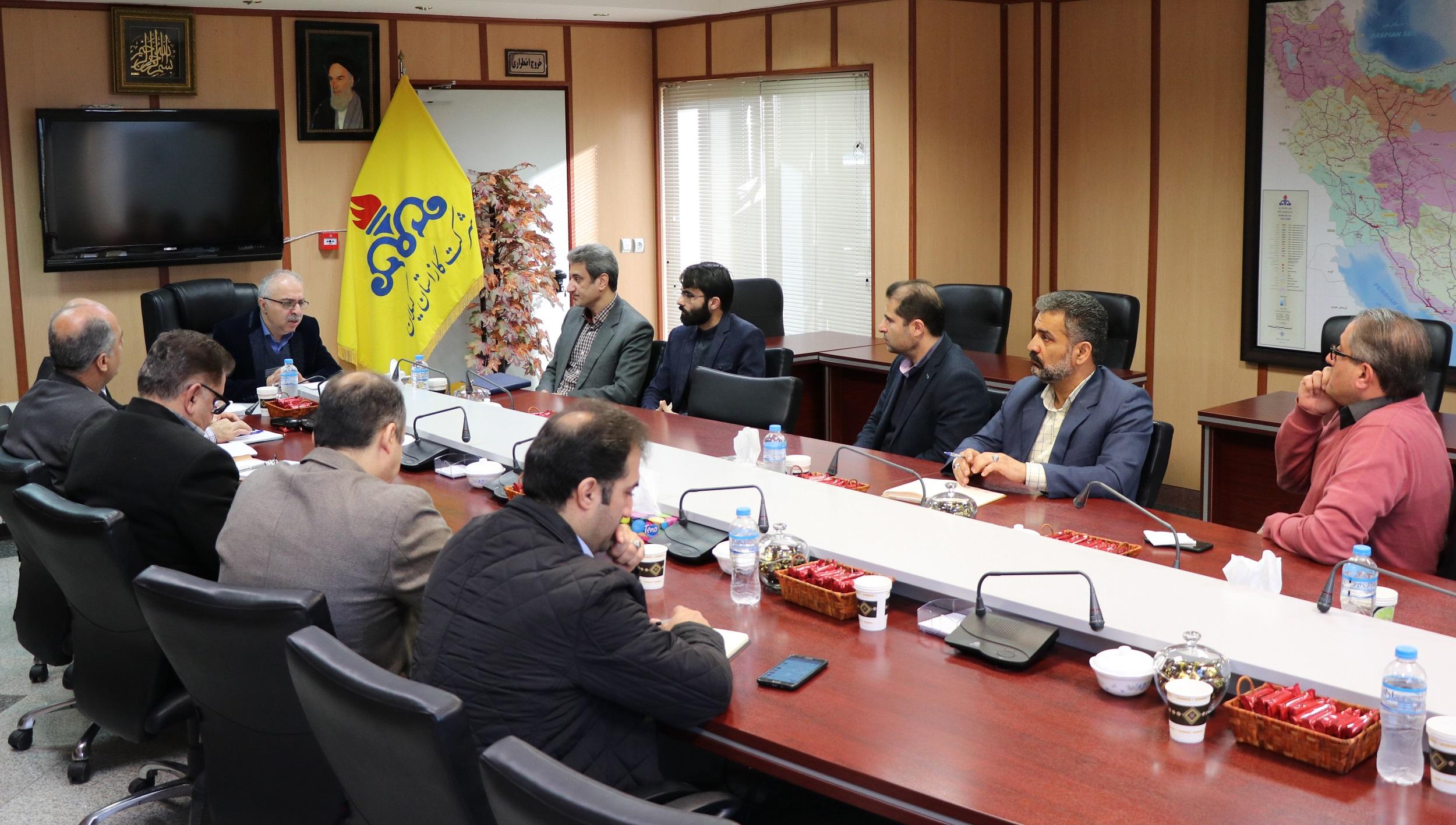 دیدار رئیس مرکز مدیریت راهبردی افتا در گیلان با مدیرعامل شرکت گاز