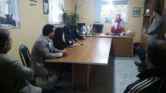 برگزاری کلاس آموزشی امداد ونجات توسط پرسنل هلال احمر به کارکنان اداره حفاظت محیط زیست رودسر
