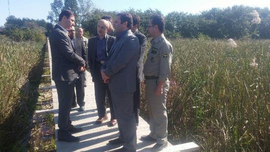 بازدید اعضای کمیته اسلحه و مهمات استان از تالاب بین المللی امیرکلایه لاهیجان
