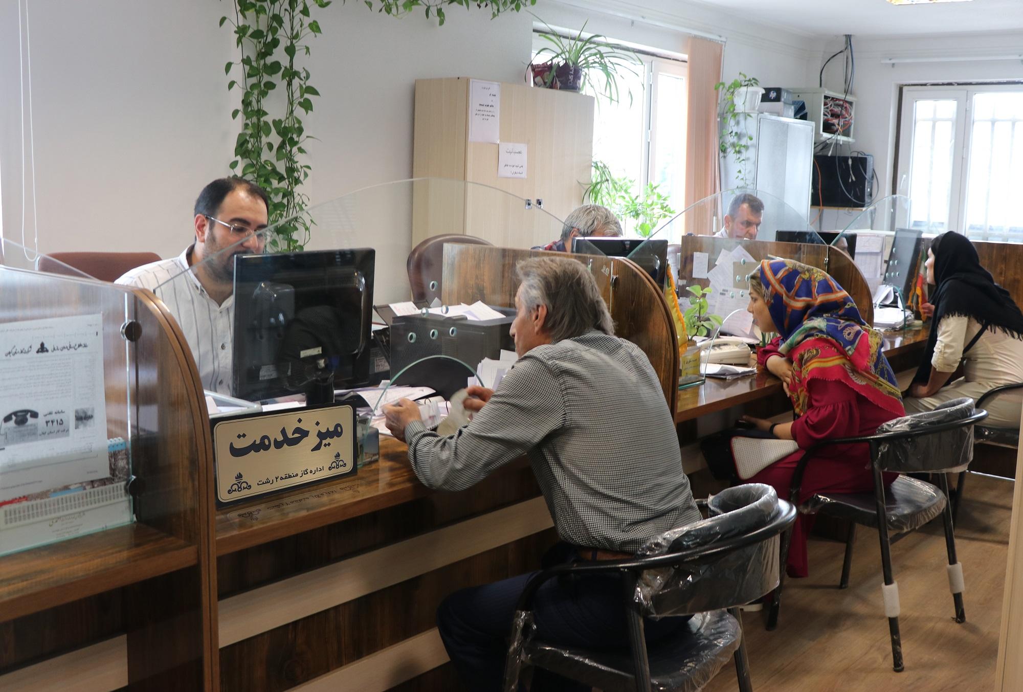 پاسخگویی به بیش از ۱۶۶ هزار درخواست در میز خدمت شرکت گاز استان گیلان