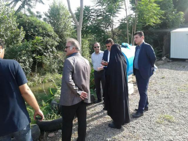 بازدید شهردار رشت از پروژه دیواره سازی حریم رودخانه در رودبارتان