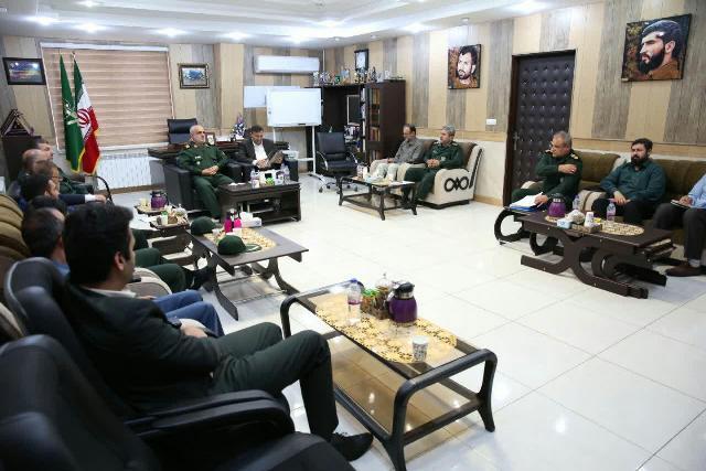گزارش تصویری نشست شهردار رشت با فرماندهان سپاه قدس گیلان