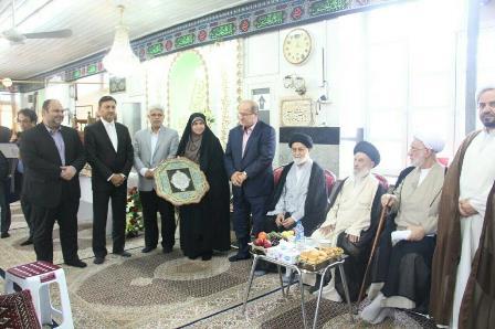 رونمایی از گلدسته مسجد ساغریسازان رشت با حضور شهردار رشت، جمعی از اعضای شورای اسلامی رشت و شهروندان