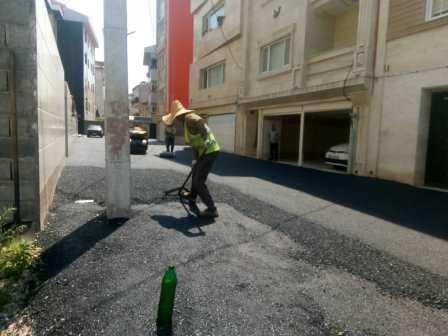 گزارش آسفالت روزانه معابر حوزه شهرداری منطقه یک