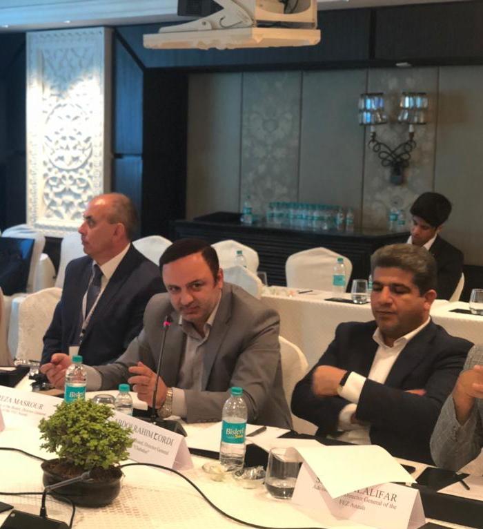 رییس هیأت مدیره و مدیرعامل سازمان منطقه آزاد انزلی در نشست گفتگوی اقتصادی استراتژیک هند و روسیه راهکار عملیاتی سازی کریدور نستراک را مطرح کرد:  کاهش هزینه ها، ترانزیت یک محموله آزمایشی در مسیر و بررسی فرصت ها و چالش های پیش روی