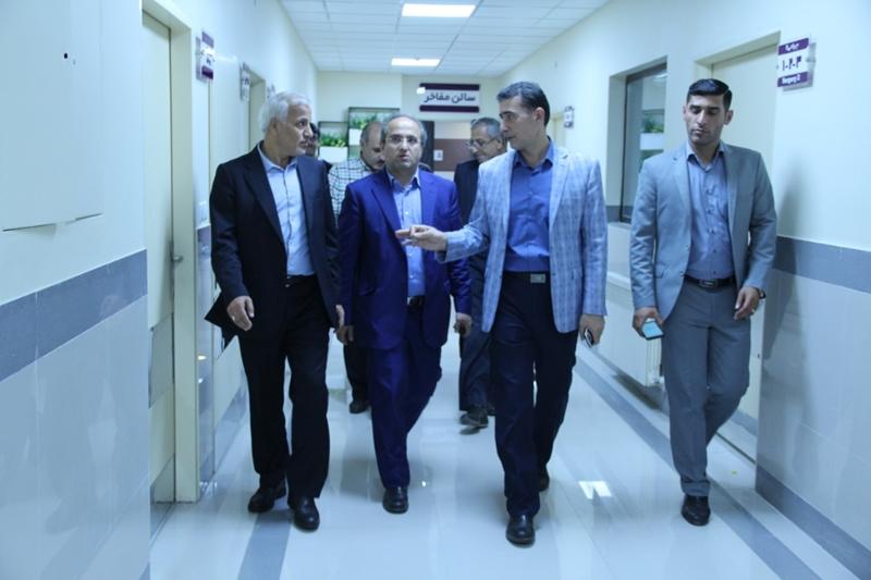 بازدید سرپرست دانشگاه علوم پزشکی گیلان از بیمارستان رازی رشت