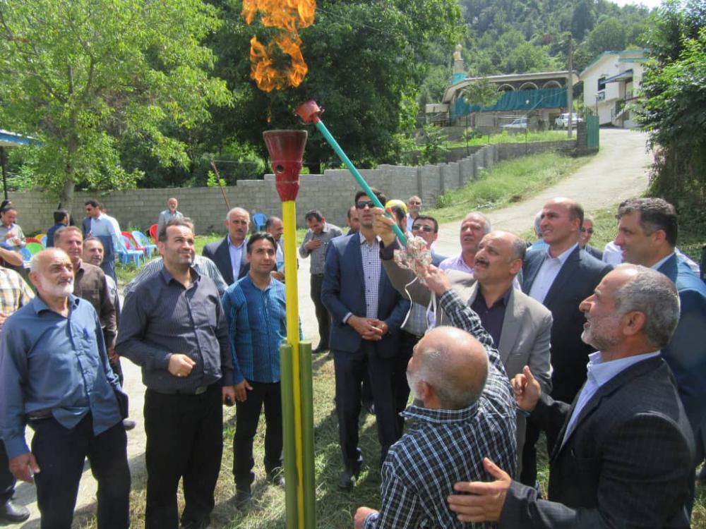 گرمای گاز در سه روستای کوهستانی رودسر