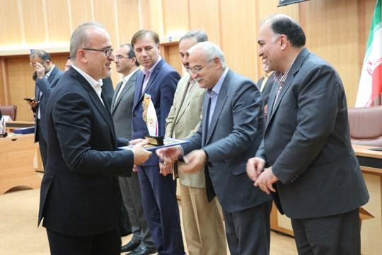 آبفای گیلان در جشنواره شهید رجایی موفق به کسب عنوان دستگاه برگزیده شد