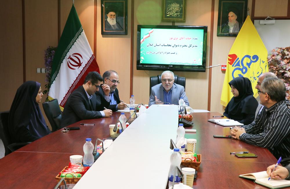 دیدارمدیرکل دیوان محاسبات گیلان با مدیرعامل شرکت گاز استان