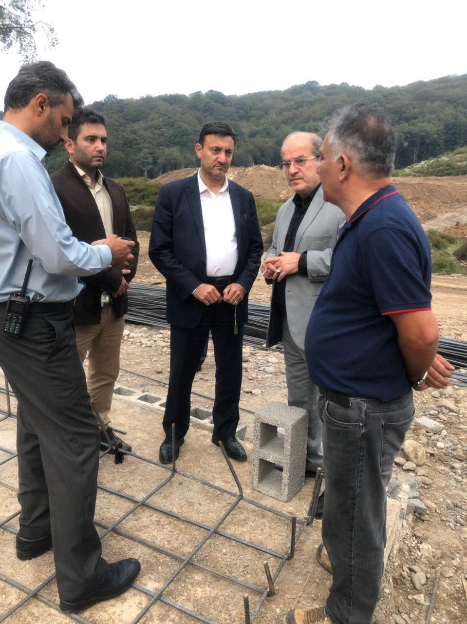 بازدید رئیس شورای اسلامی و شهردار رشت از پروژه احداث تصفیه خانه دفنگاه سراوان