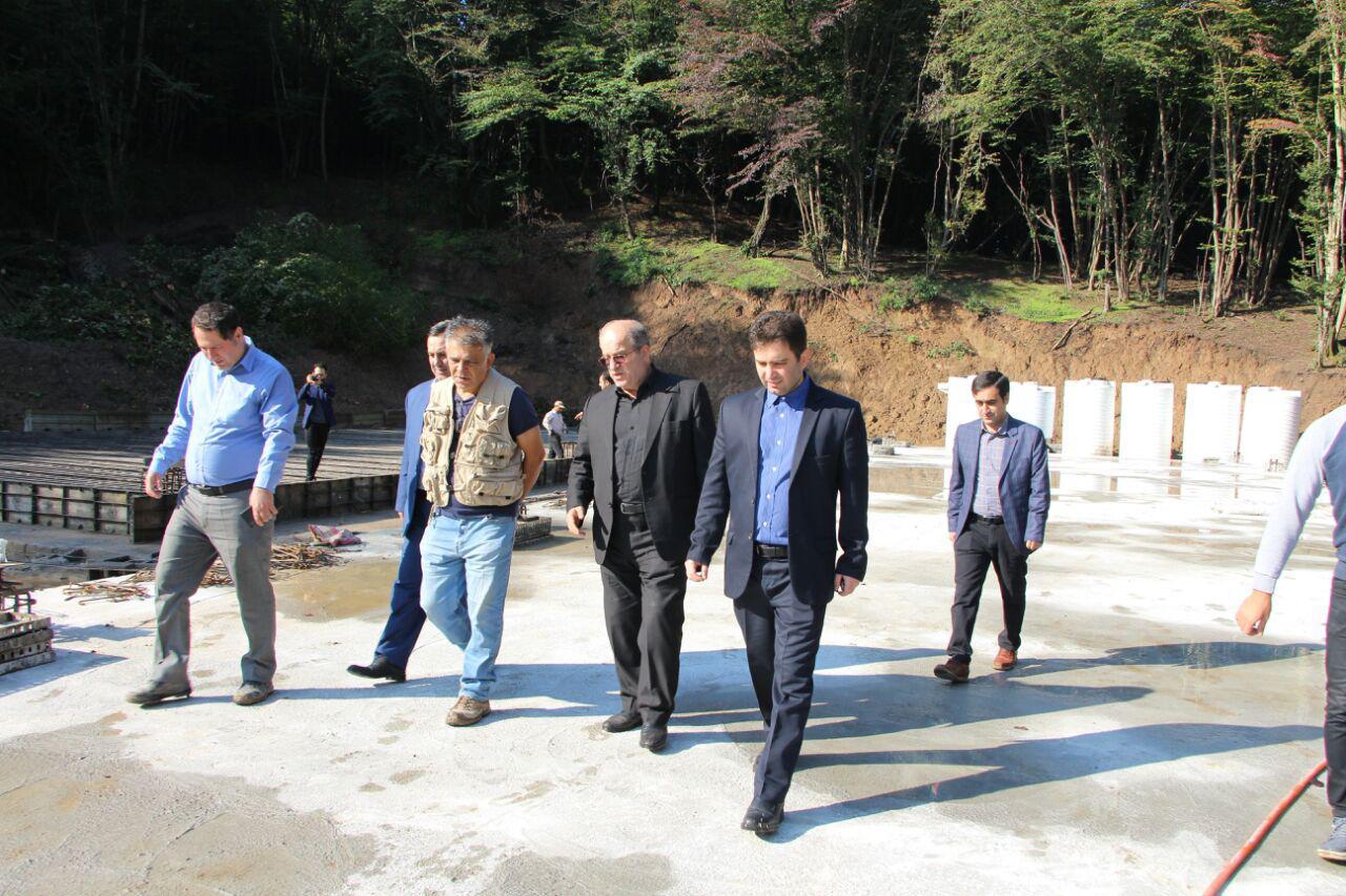 گزارش تصویری بازدید اسماعیل حاجی پور رئیس شورای شهر رشت به همراه علیرضا حاجی پور مدیر عامل سازمان پسماند از پروژه تصفیه خانه سراوان