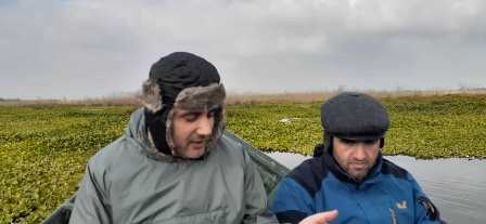 بازدید میدانی مدیر کِل حفاظت محیط زیست استان ، از وضعیت  تالاب انزلی