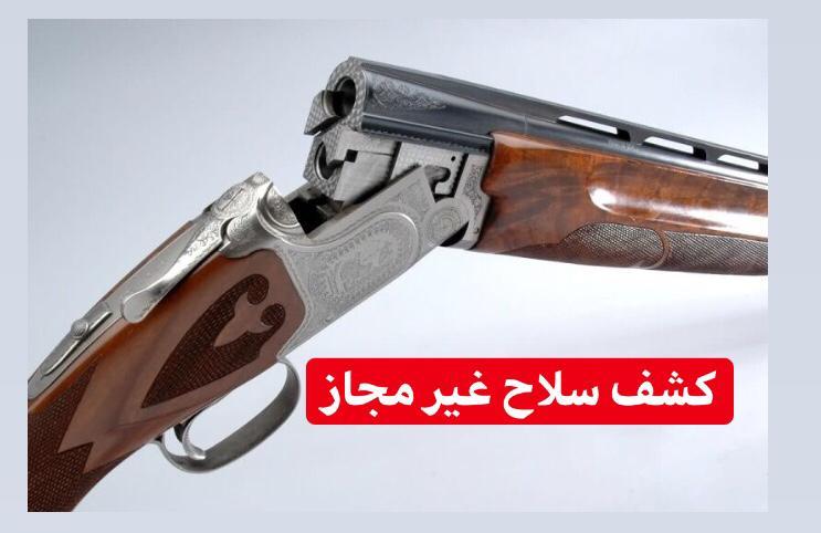 کشف و ضبط دو قبضه سلاح شکاری غیر مجاز در بندرکیاشهر