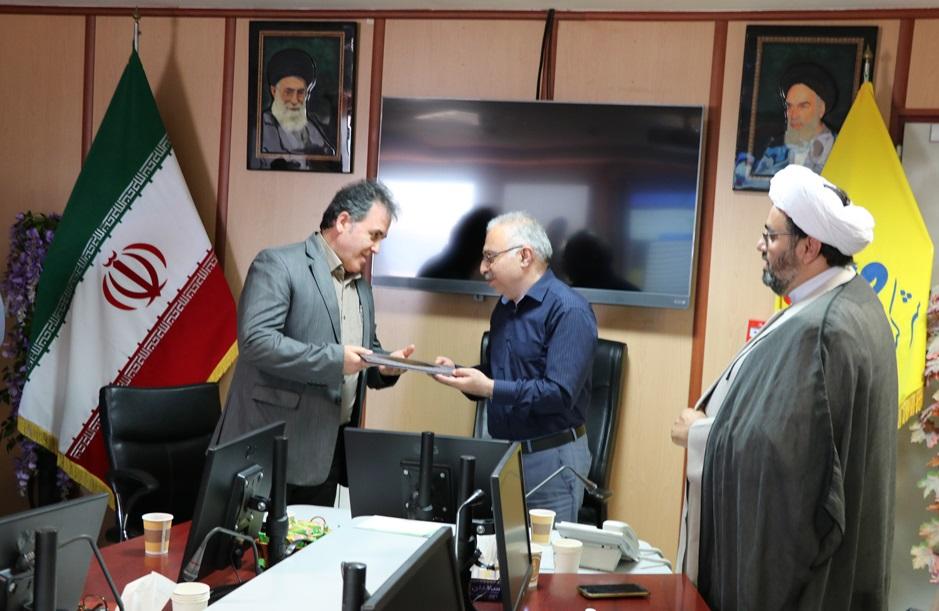 مراسم تکریم و معارفه رئیس روابط عمومی شرکت گاز استان گیلان برگزار شد