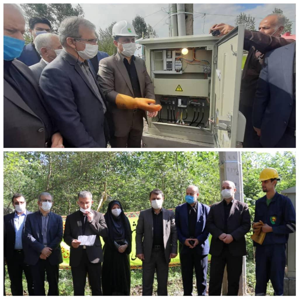 بمناسبت هفته دولت  افتتاح دو پروژه تقویت برق روستایی در شهرهای کوچصفهان و خشکبیجار