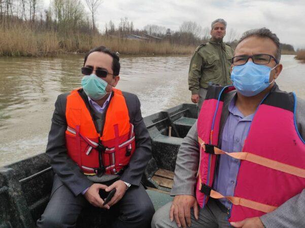 بازدید مشترک دادستان و سرپرست اداره حفاظت محیط زیست از تالاب بین المللی انزلی