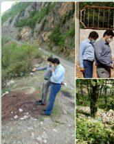 بازدید مشترک روسای حوزه قضایی و حفاظت محیط زیست از وضعیت مدیریت زباله روستایی رحیم آباد رودسر