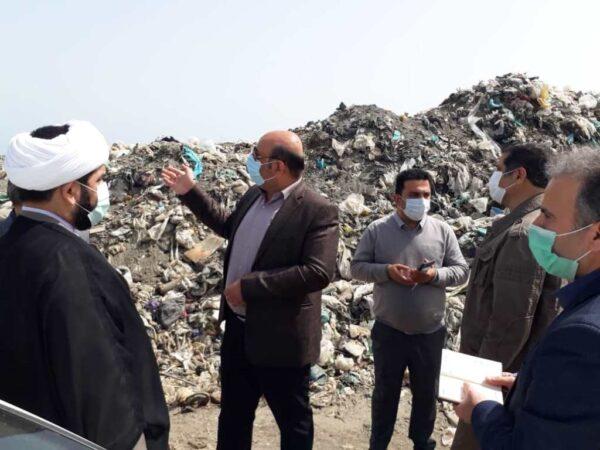بازدید مدیرکل حفاظت محیط زیست گیلان از جایگاه دفن پسماند تالش