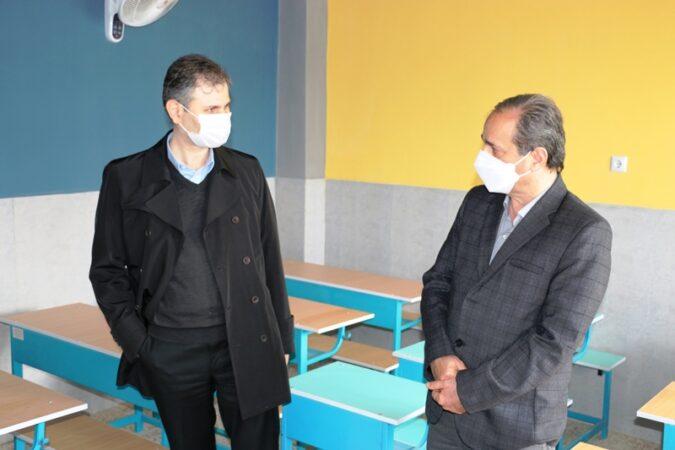بازدید مدیر کل نوسازی مدارس گیلان از پروژه های در حال احداث و نیمه تمام آموزشی