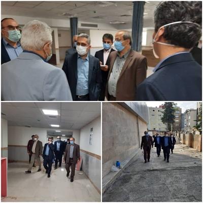 بازدید معاون درمان وزارت بهداشت از کلینیک ویژه در دست احداث مرکز آموزشی ، درمانی دکتر حشمت