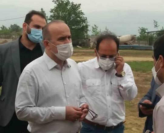بازدید مدیرعامل آبفای گیلان از مراحل تجهیز کارگاه پروژه تصفیه خانه فاضلاب صومعه سرا