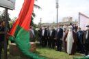 اهتزاز پرچم فلسطین در رشت و برپایی رزمایش مواسات با حضور استاندار گیلان