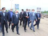 بازدید وزیر راه و شهرسازی و استاندار گیلان از روند تکمیل پروژه آزادراه و راه آهن
