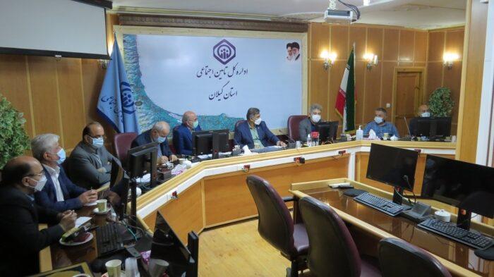 نشست مشترک مدیران درمان و بیمه ای تامین اجتماعی ،نماینده مردم رشت درمجلس شورای اسلامی و اعضای کانون های بازنشستگی تامین اجتماعی گیلان