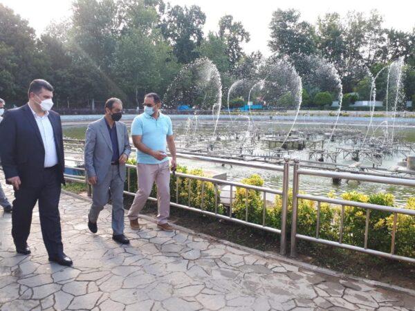 راه اندازی فاز تکمیلی آب نمای موزیکال بوستان ملت در عید سعید غدیر