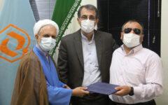 تقدیر از همکار روشندل در بنیاد مسکن انقلاب اسلامی گیلان