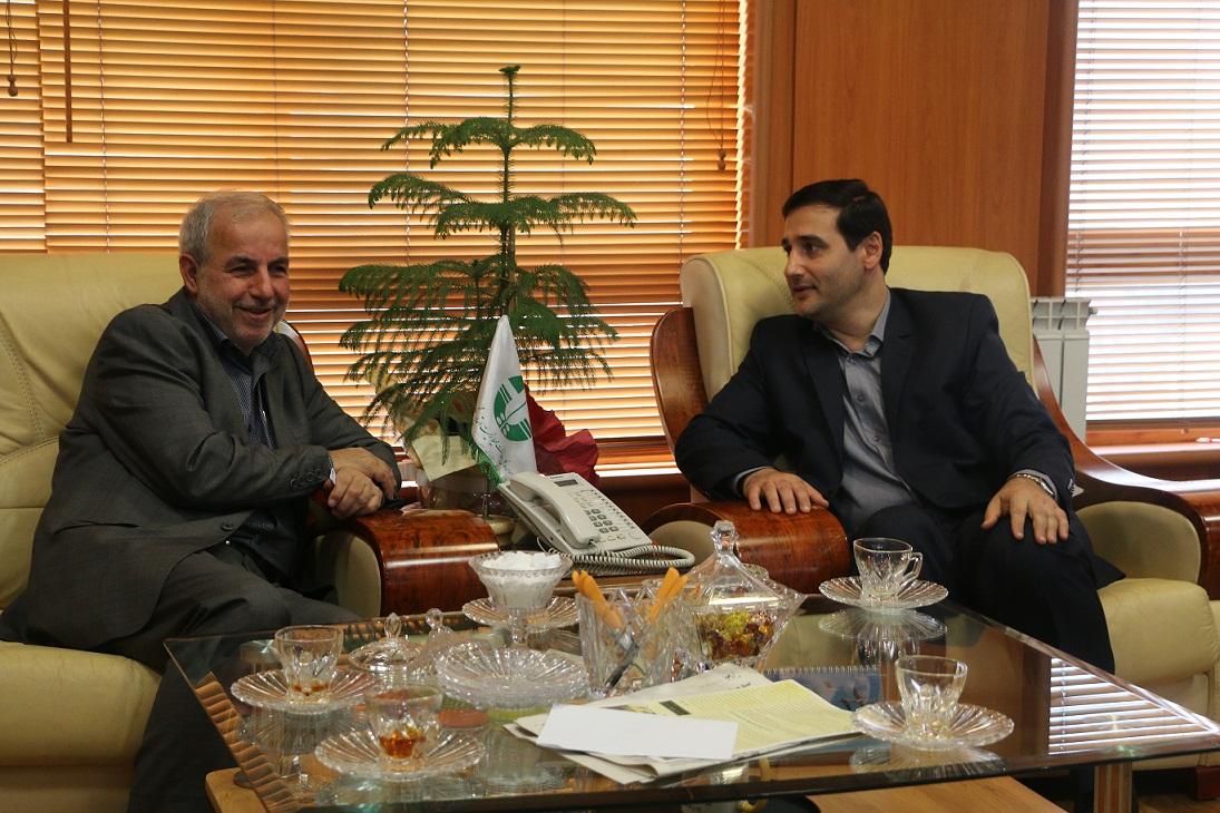 دیدار نماینده مردم رشت در مجلس شورای اسلامی با مدیرکل حفاظت محیط زیست گیلان
