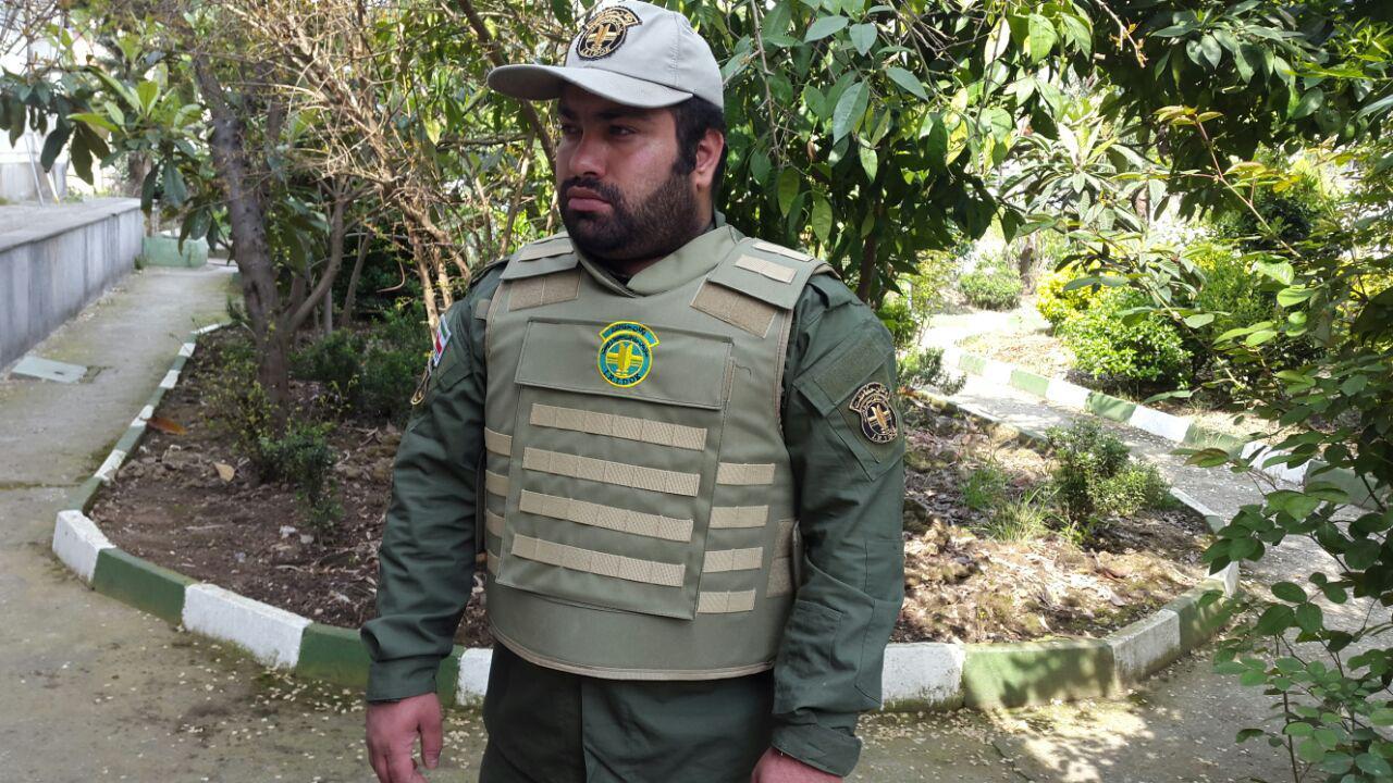 تجهیز محیطبانان یگان حفاظت محیط زیست گیلان به جلیقه ضد گلوله