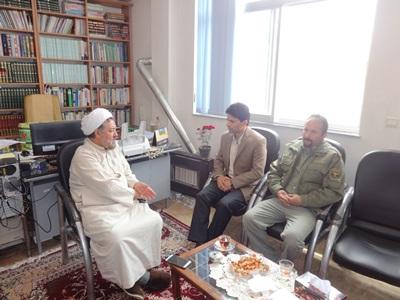 دیدار با امام  جمعه شهرستان رضوانشهر در هفته محیط زیست