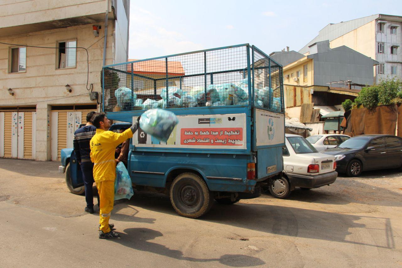 گزارش تصویری از جمع آوری زباله خشک جهت نظافت شهر و تفکیک زباله ها به صورت روزانه