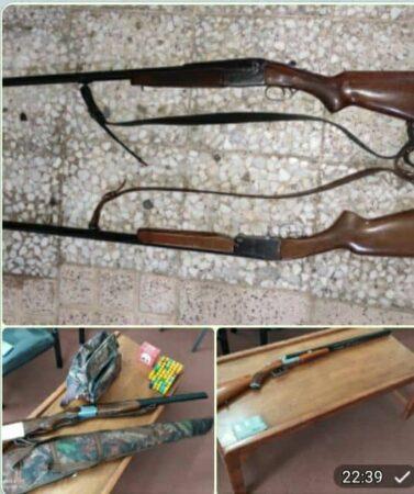 کشف و ضبط ۴ قبضه سلاح شکاری به همراه ۶۸۲ عدد فشنگ در رودسر